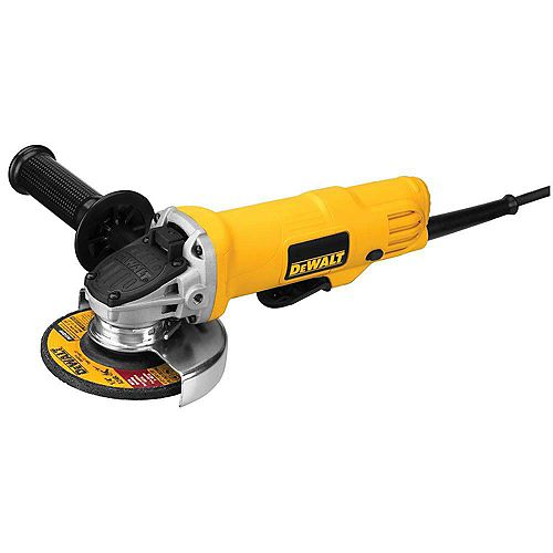 DEWALT 7.5 Amp 4.5-inch Corded 12,000 RPM Paddle Switch Small Angle Grinder