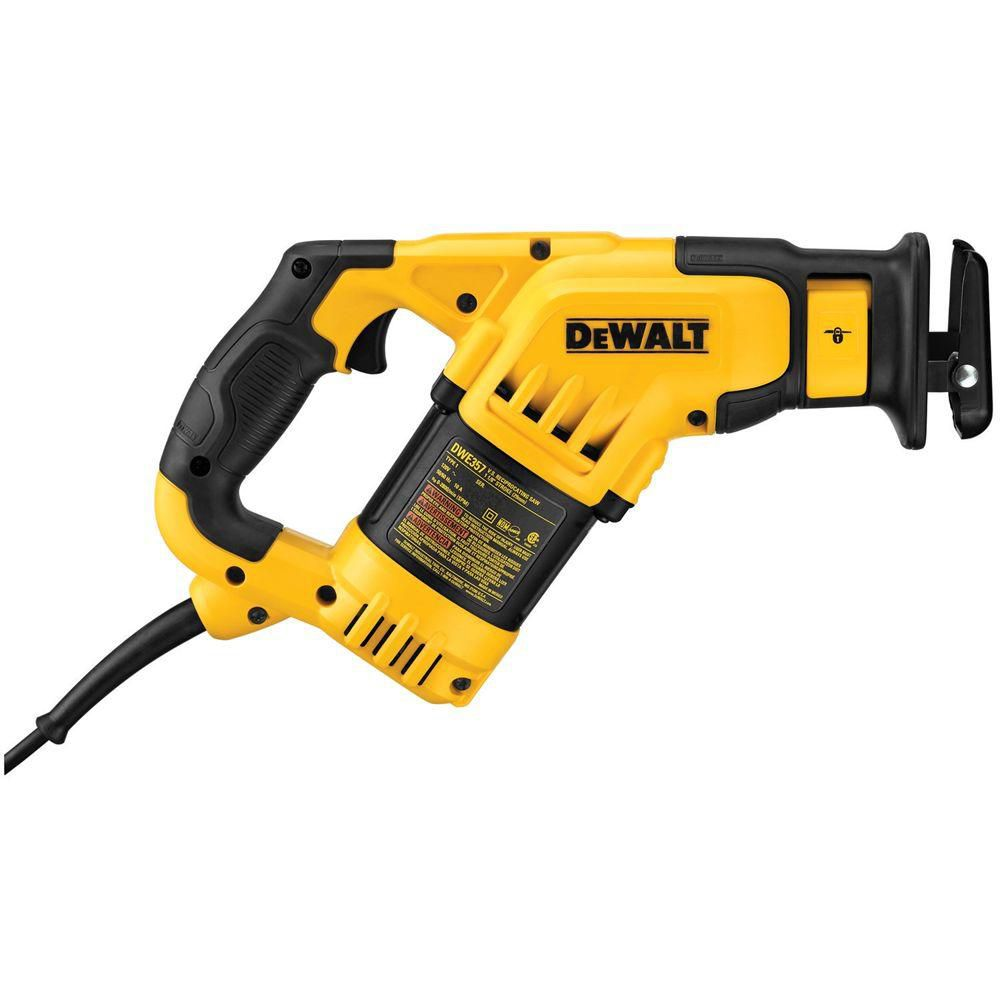 10 Amp Compact Corded Reciprocating Saw with Keyless Blade Clamp