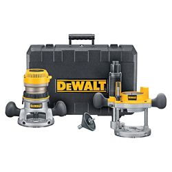 DEWALT 1 3/4 Maximum Motor HP Fixed Base / Plunge Base Router Combo Kit