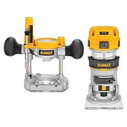 DEWALT 1-1/4 HP Premium Plunge/Fixed Compact Router Combo