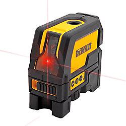 DEWALT 165 ft. Red Self-Leveling Cross-Line & Plumb Spot Laser Level with (3) AAA Batteries & Case