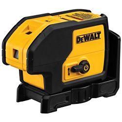 DEWALT 100 ft. Red Self-Leveling 3-Spot Laser Level with (4) AA Batteries & Case