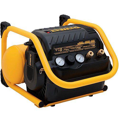 DEWALT 2.5 Gal. Portable Electric Heavy Duty 200 PSI Quiet Trim Air Compressor