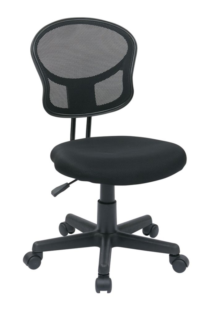 office star black mesh task chair the home depot canada