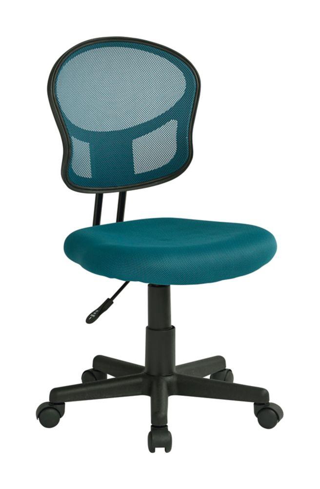 Chaise fonctionnelle en tissu maillé bleu