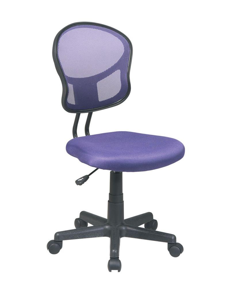 Purple Mesh Task Chair