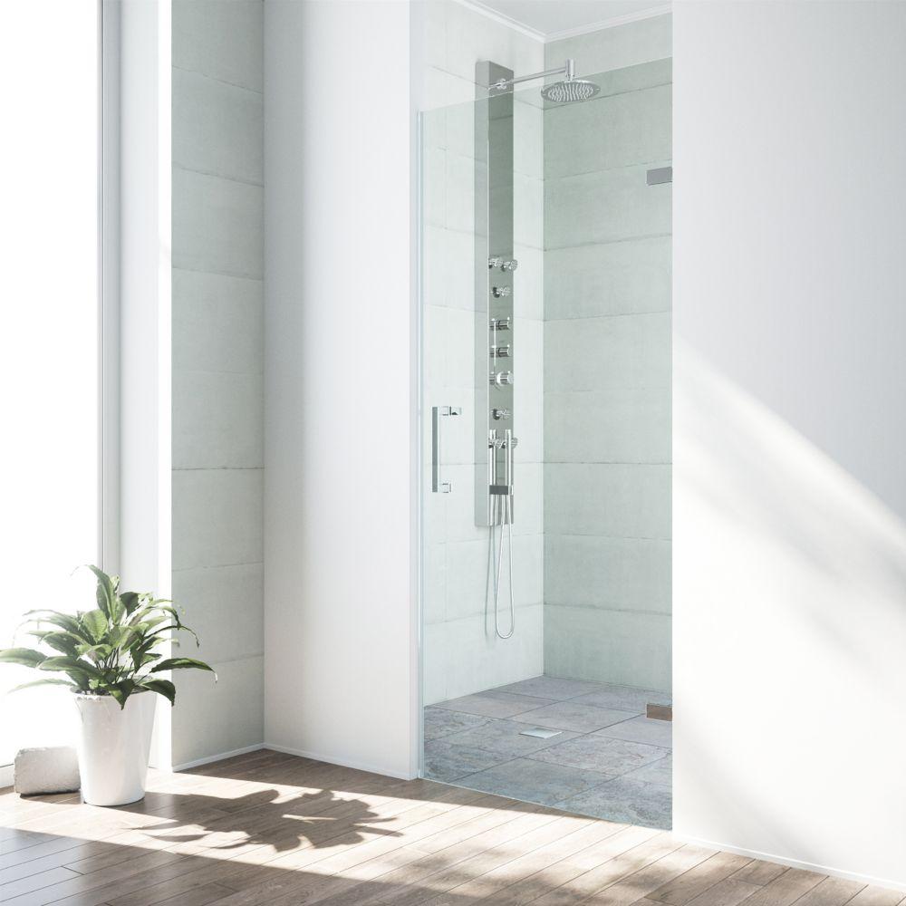 Chrome Clear Soho Frameless Shower Door  24 inch 5/16 inch glass