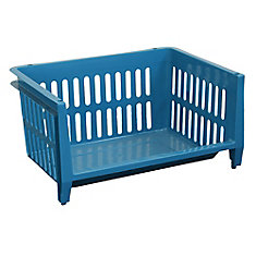 Jumbo Stacking Basket - Blue