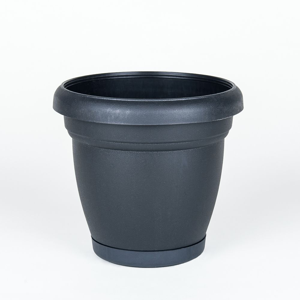 10 Inch Heritage Planter Black