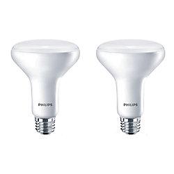 Philips LED 65W BR30 Soft White (2700K) - (2-Pack)