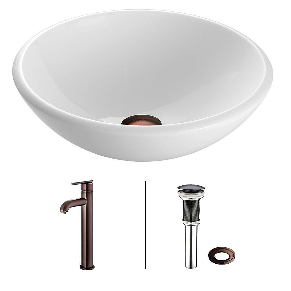 Vigo Phoenix Stone Vessel Bathroom Sink