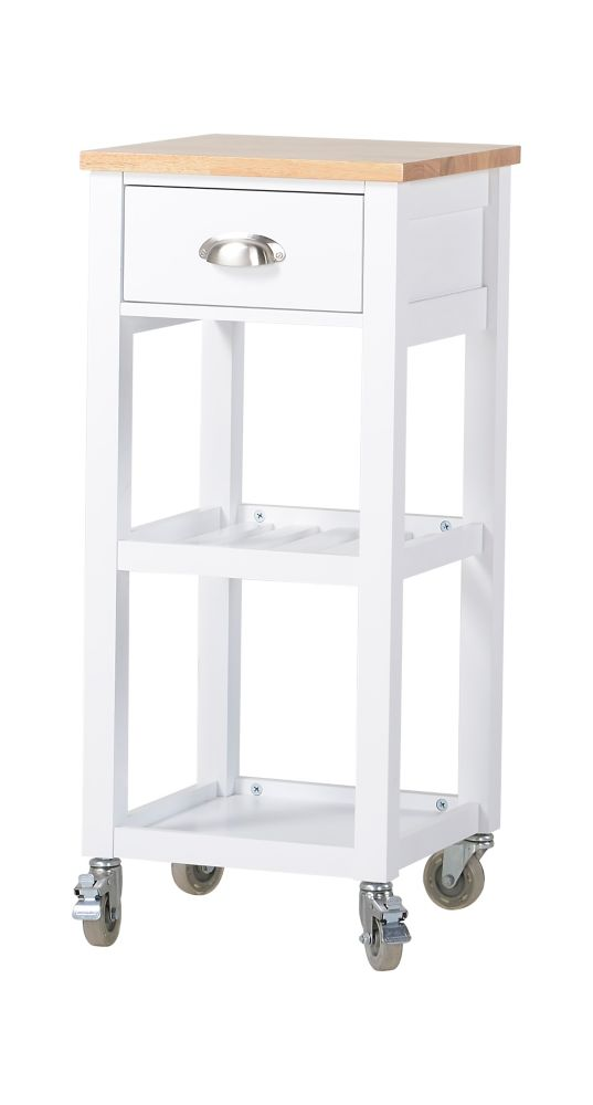 Kitchen Island Cart in White