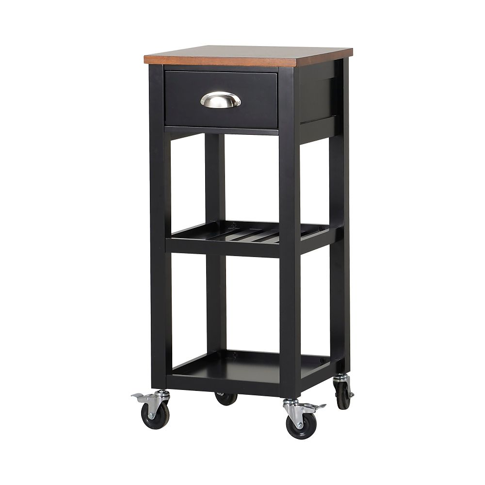 Kitchen Island Cart in Black