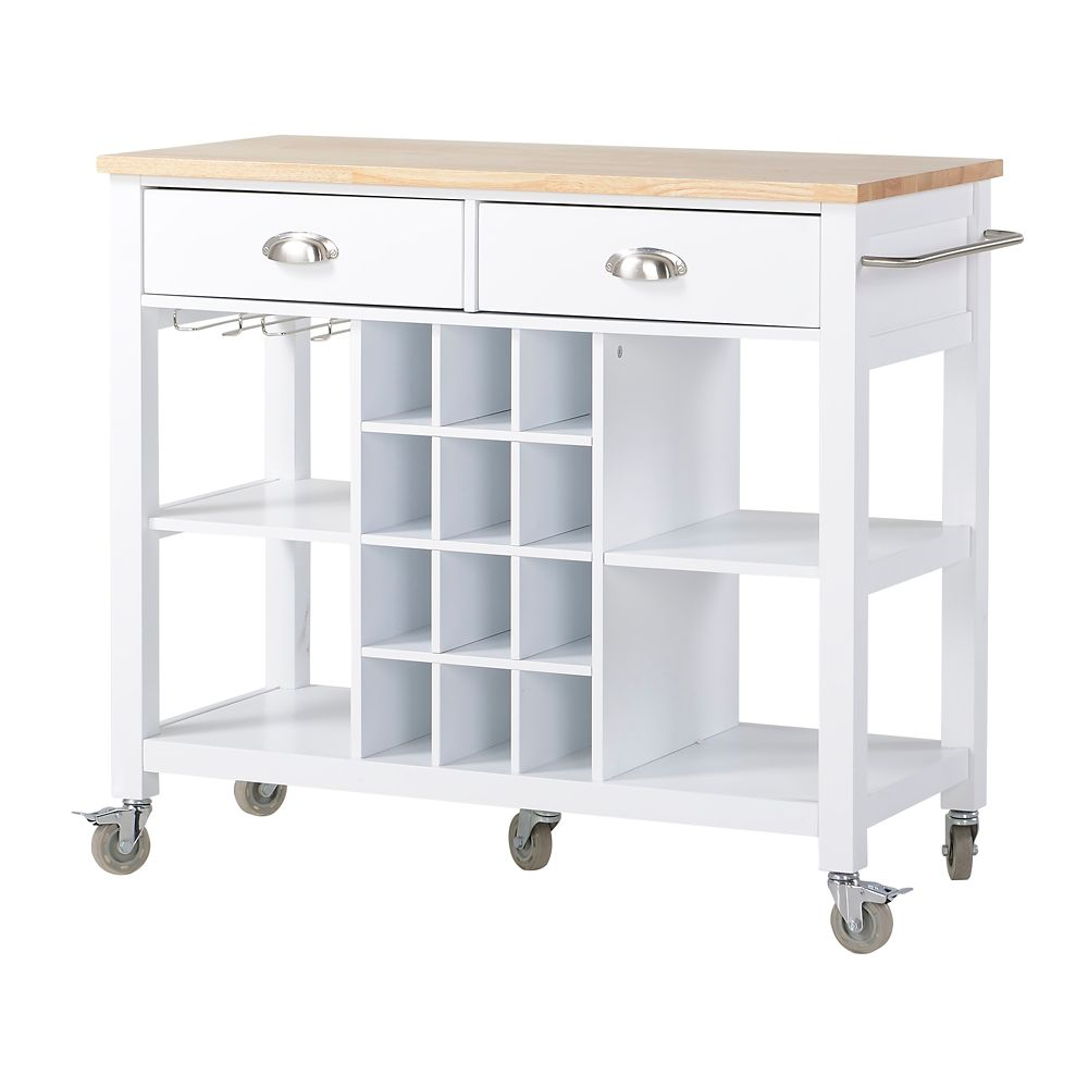 Homestar Grand 238 Lot Et Desserte De Cuisine En Blanc Home