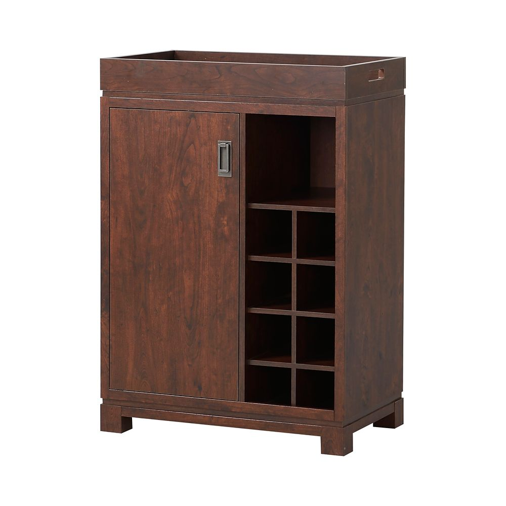 Wine Cabinet With Removable Tray in Brown