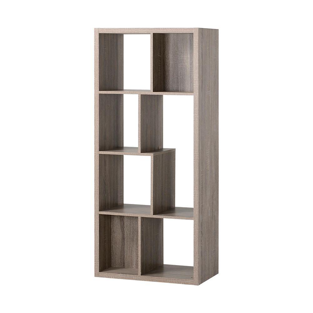 Console en bois récupéré avec sept étagères compartimentées