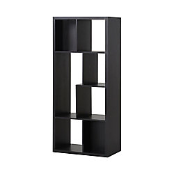 Homestar 26-inch x 59.10-inch x 14.97-inch 7-Shelf Manufactured Wood Bookcase in Espresso
