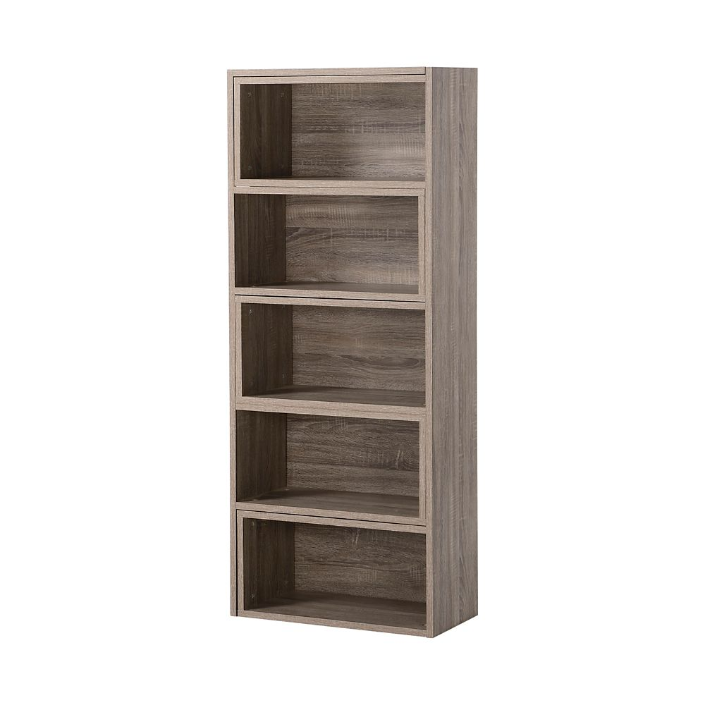 Expandable Shelving Console in Reclaimed Wood