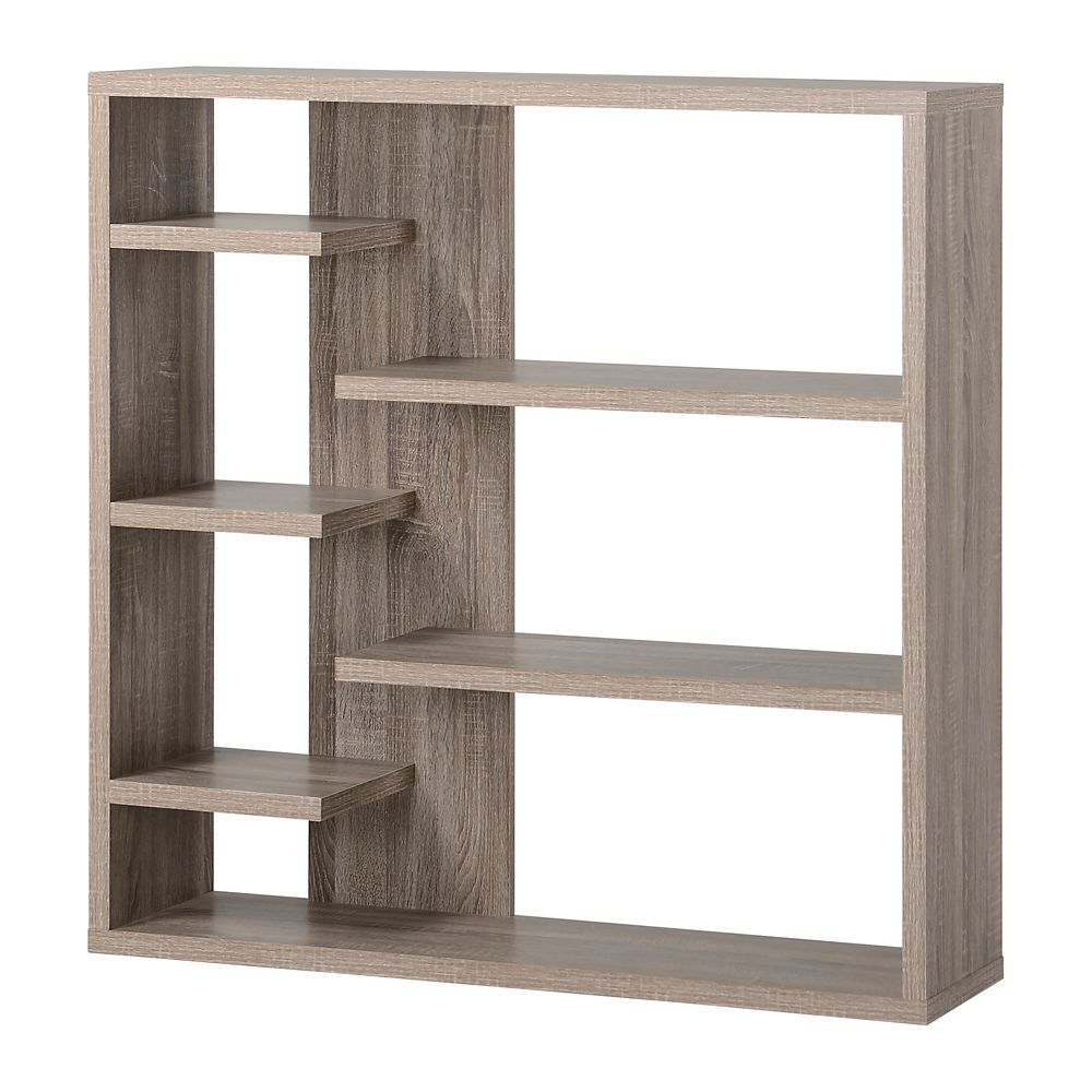 Homestar 6 Shelf Storage Bookcase In Reclaimed Wood The