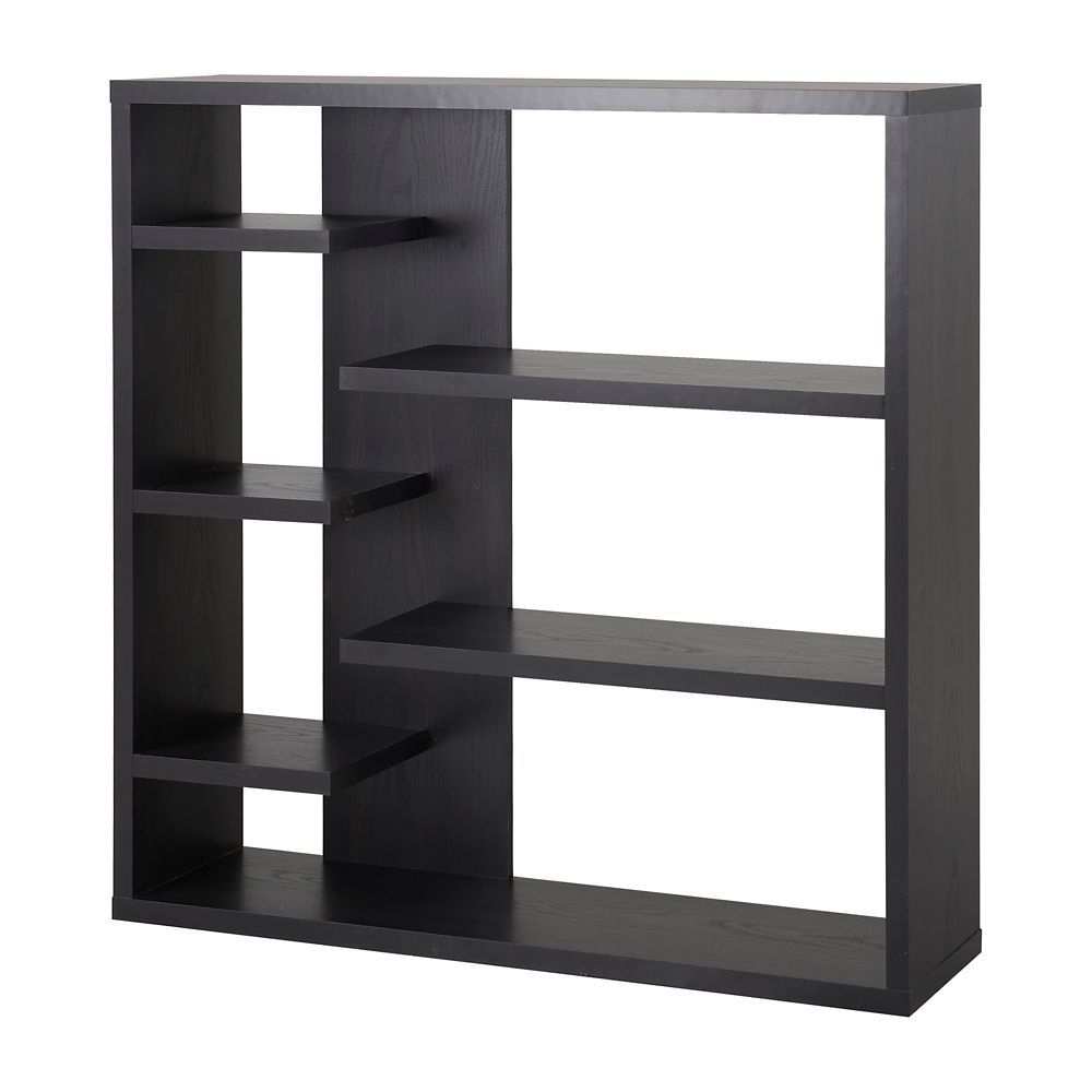 6 Shelf Storage Bookcase in Espresso