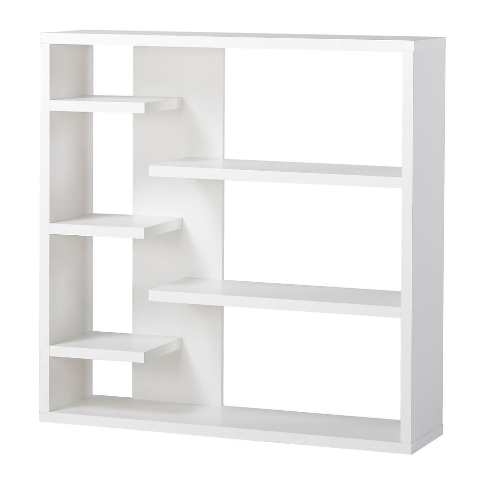 6 Shelf Storage Bookcase in White