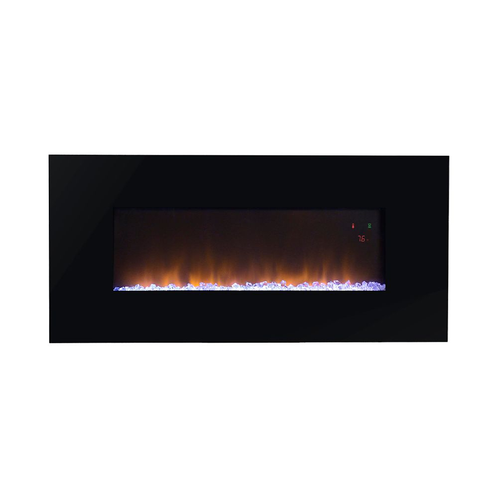 24 daniel curved wall mount electric fireplace ef wm326 for 24 wall mount electric fireplace