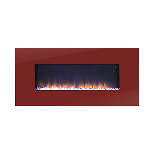 Paris 41 Inch Wide Wall Mount Firebox in Red