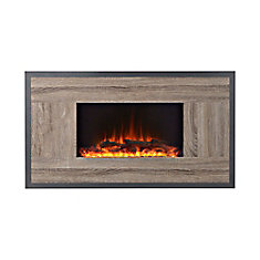Oland 41 Inch Wide Wall Mount Firebox in Reclaimed Wood