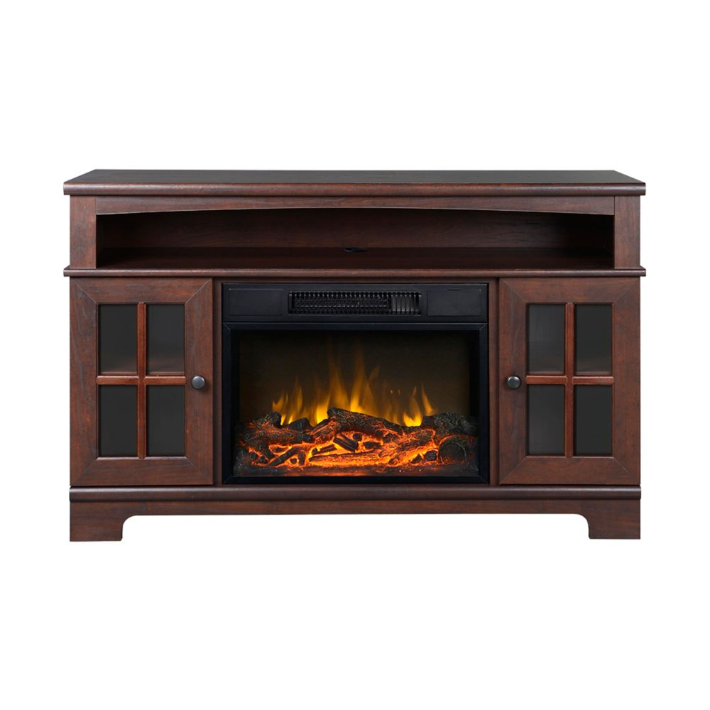 Zarate 44.5 Inch Wide Media Fireplace in Walnut