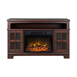 Homestar Zarate 44.5-inch Electric Fireplace and Media Stand in Walnut