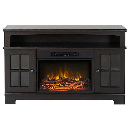 Zarate 44.5 Inch Wide Media Fireplace in Espresso