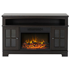 Zarate 44.5 Inch Wide Media Fireplace in Espresso