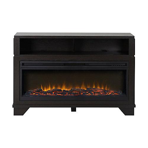 Nereto 48 Inch Wide Media Fireplace in Black