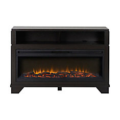 Nereto 48 Inch Wide Media Fireplace in Black