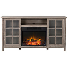Provence 60-inch Electric Fireplace and Media Stand in Reclaimed Wood