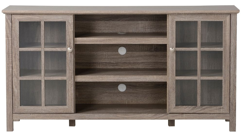 Provence 60 Inch Wide Media Stand in Reclaimed Wood