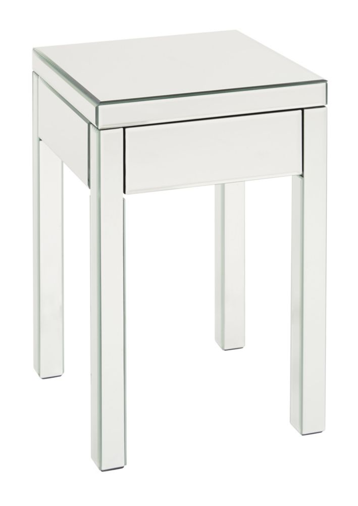 Avenue Six Reflections End Table REF09-SLV Canada Discount