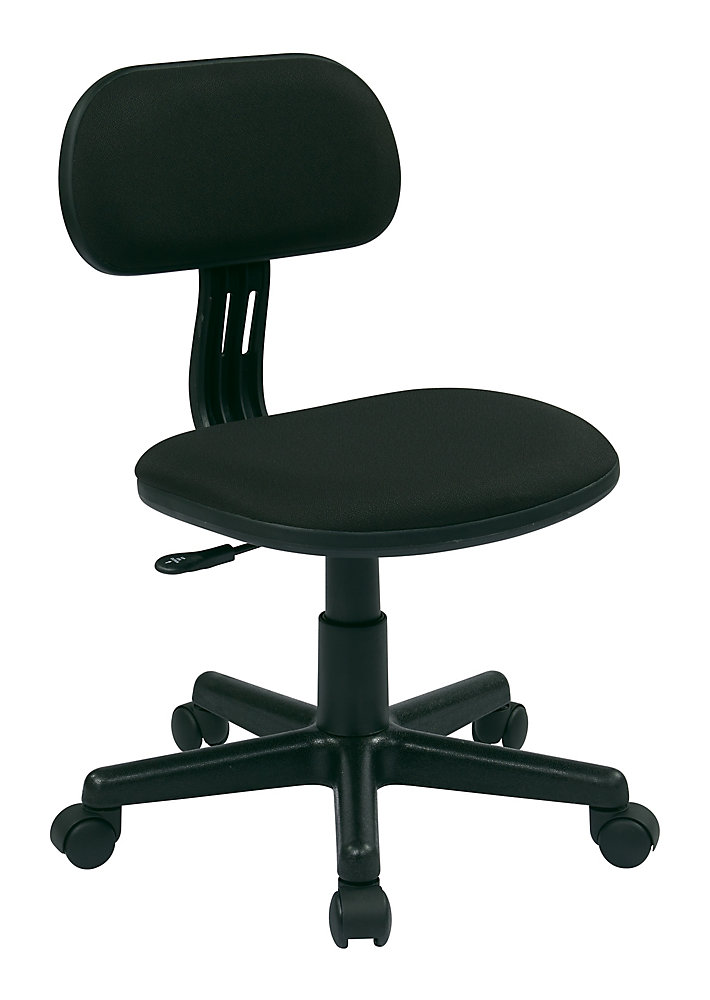 OSP Designs Student Task Chair in Black | The Home Depot