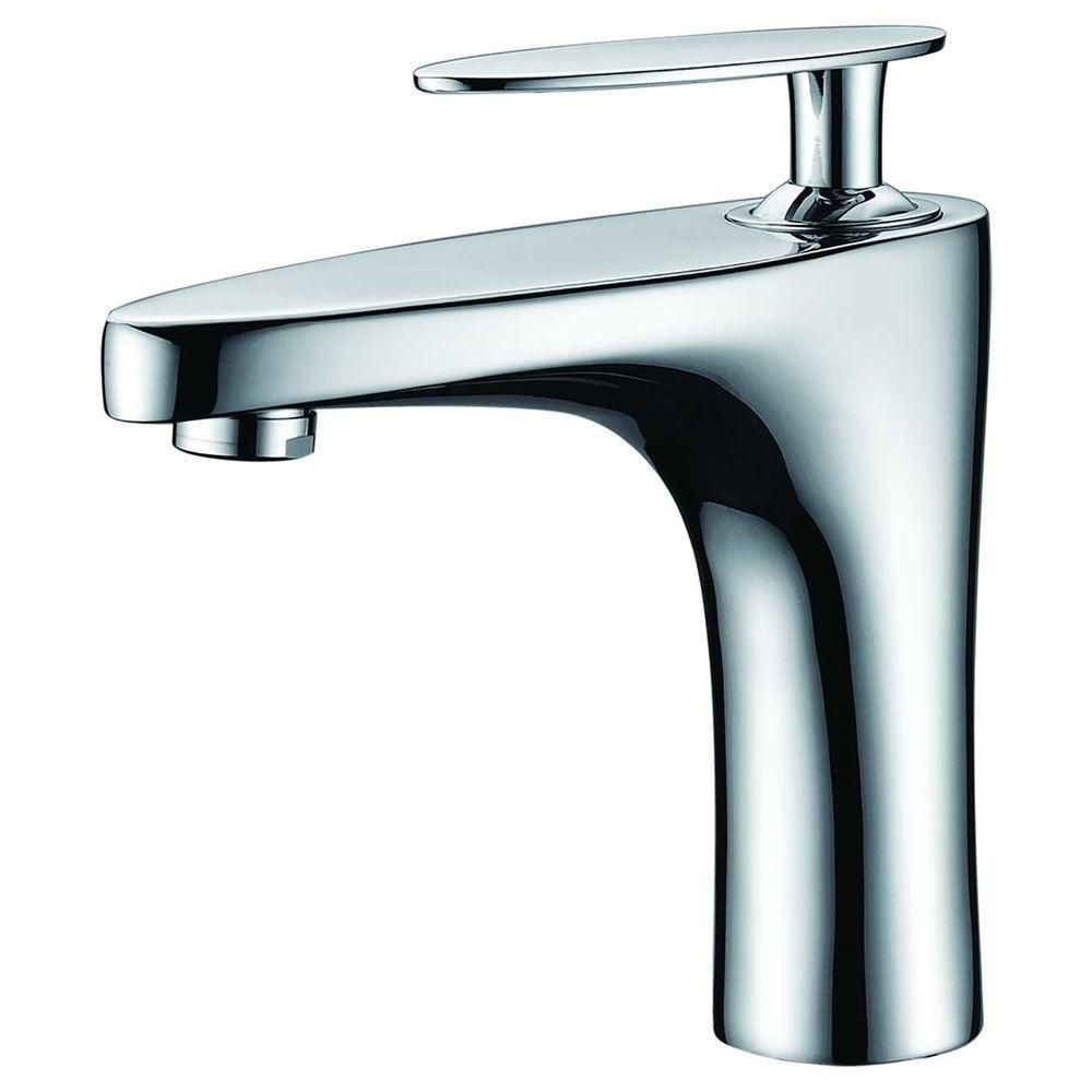 American Imaginations Single Hole Brass Bathroom Faucet In Chrome Finish The Home Depot Canada