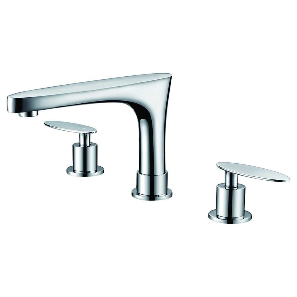 8-inch Brass Bathroom Faucet in Chrome Colour