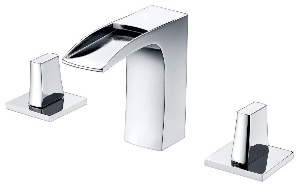 8-inch Brass Bathroom Faucet in Chrome Colour