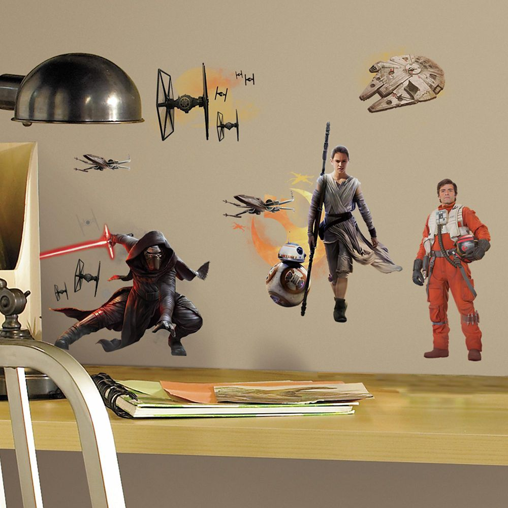 Star Wars The Force Awakens Ep VII Ensemble Cast P&S Wall Decals