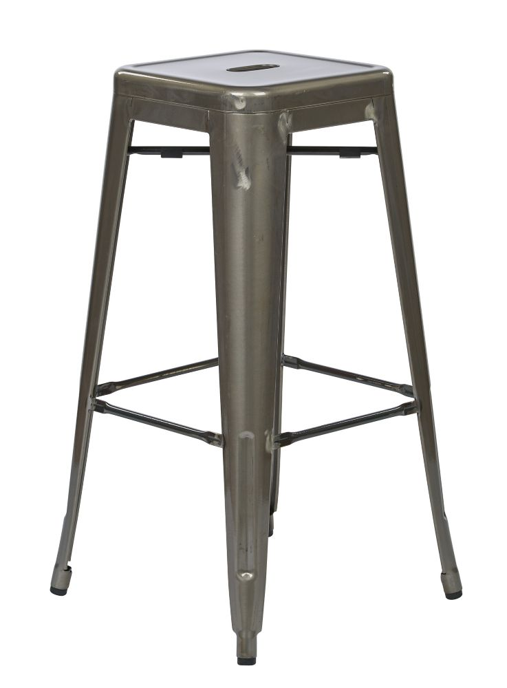 "Bristow 30"" Metal Barstool in Gunmetal, 4-Pack"