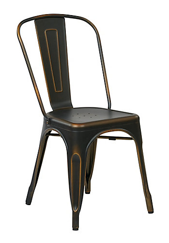 Bristow Metal Dining Chair In Antique Copper 4 Pack