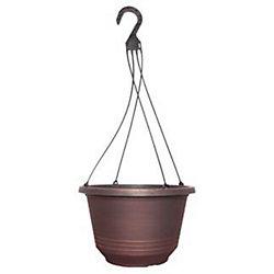 CTi Plastics 12 1/2-inch Torino Hanging Basket (With H-22-4HEV)