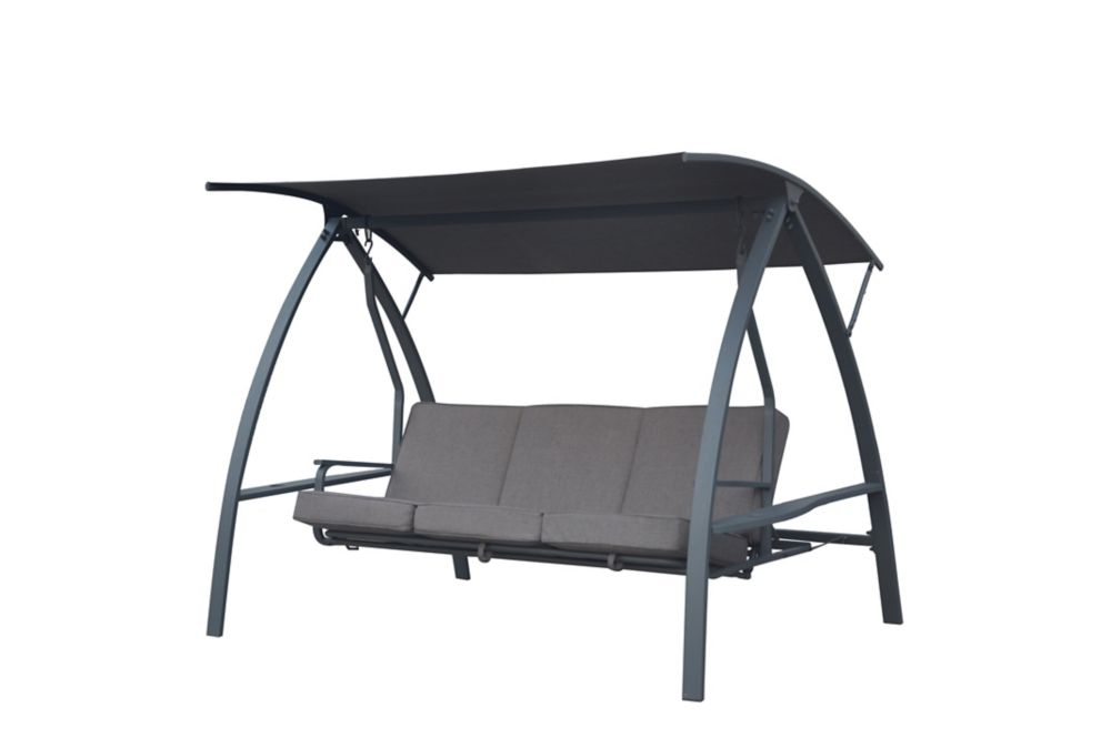 Hampton Bay Deluxe Three Person Outdoor Daybed Swing The