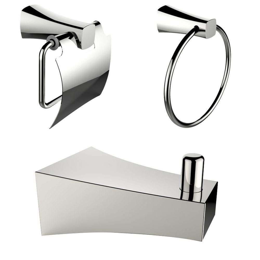 Chrome Plated Robe Hook With Towel Ring And Toilet Paper Holder Accessory Set AI-13493 in Canada