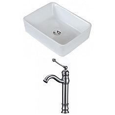 American Imaginations 19 Inch W X 14 Inch D Rectangular Vessel Sink