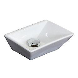 American Imaginations 12-inch W x 9-inch D Rectangular Vessel Sink in White