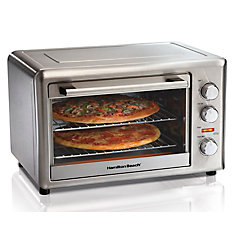 Convection Countertop Oven, Rotisserie, Fits 2 X 12 Inch Pizzas, Digital Touch Pad, 2 Racks, SS